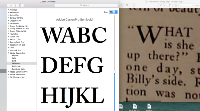 Caslon Pro and AmMag 1912 text
